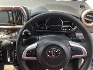 トヨタ パッソ 左足アクセル 左ウインカーレバー ステアリングデバイス
